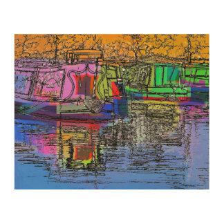 CANALS WOOD WALL ART