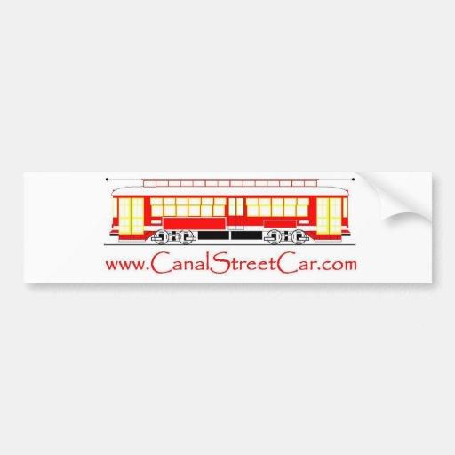 CanalStreetCar (dot com) Logo Bumper Sticker