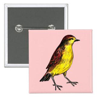 Canary Bird Button