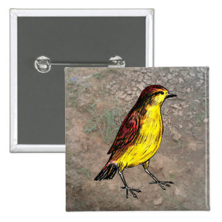 Canary Bird Pinback Button