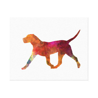 Canary bulldog in watercolor canvas print