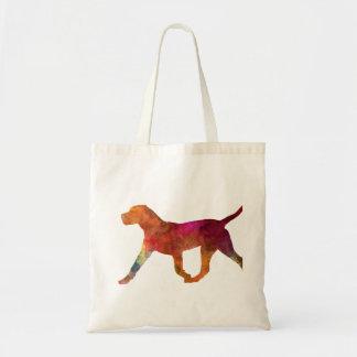 Canary bulldog in watercolor tote bag