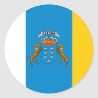 canary island flags classic round sticker