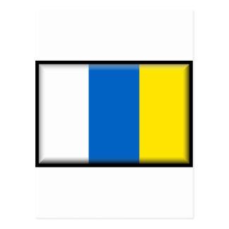 Canary Islands Flag Postcard