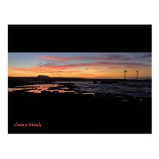 Canary islands, Fuerteventura North Shore sunset Postcard