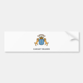 Canary Islands High Quality Coat of Arms Bumper Sticker