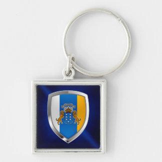 Canary Islands Mettalic Emblem Key Ring