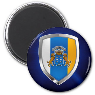 Canary Islands Mettalic Emblem Magnet