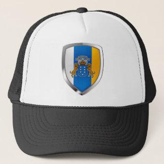 Canary Islands Mettalic Emblem Trucker Hat