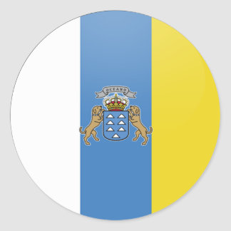 Canary Islands quality Flag Circle Classic Round Sticker