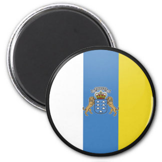 Canary Islands quality Flag Circle Magnet