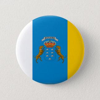 Canary Islands (Spain) Flag 6 Cm Round Badge