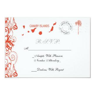 Canary Islands Wedding RSVP Card