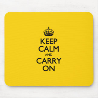Canary Keep Calm And Carry On Mouse Pad