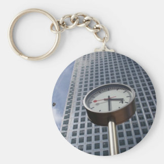 Canary Wharf Basic Round Button Key Ring