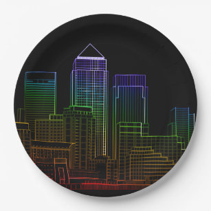 Canary Wharf - London Paper Plate