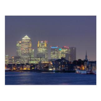 Canary Wharf postcard