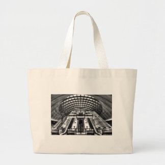 canary wharf tube station large tote bag