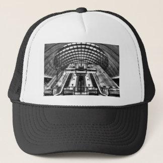 canary wharf tube station trucker hat