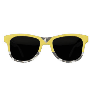 Canary Yellow Abstract Sunglasses