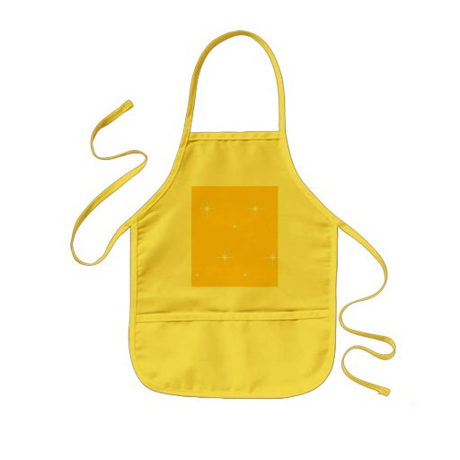 Canary Yellow And Bright Stars Pattern Aprons
