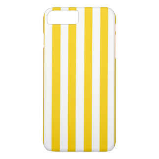 Canary Yellow And White Vertical Large Stripes iPhone 7 Plus Case