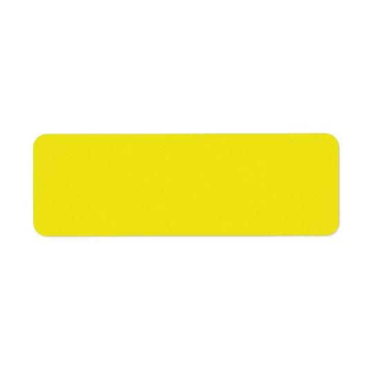 Canary Yellow Bright Fashion Colour Trend 2014 Return Address Label