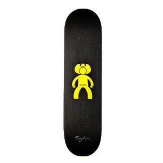 Canary Yellow Cowboy Custom Skateboard