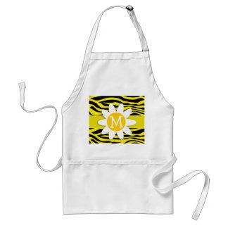 Canary Yellow Zebra Print; Daisy Standard Apron