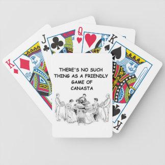 canasta joke 11 bicycle playing cards