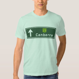 Canberra, Australia Road Sign Tshirts