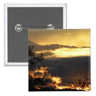 Canberra Summer Sunset 15 Cm Square Badge
