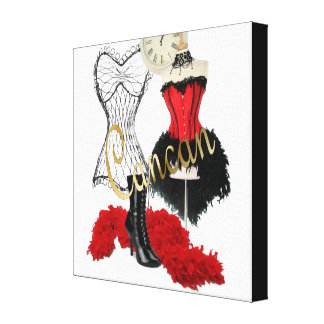 Cancan Costume 1 Canvas Print