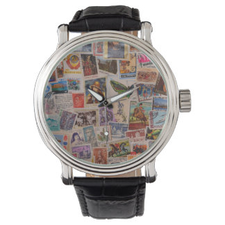 Canceled Stamps - wristwatch