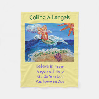 Cancer Angel Chemo Custom Fuzzy Fleece Blanket