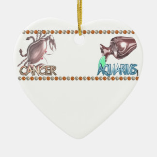Cancer Aquarius astrology friendship by Valxart Ceramic Heart Decoration
