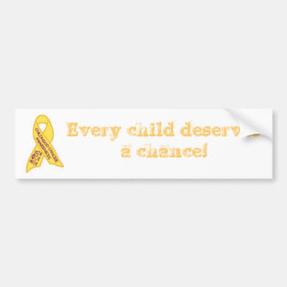 cancer awareness bumper sticker