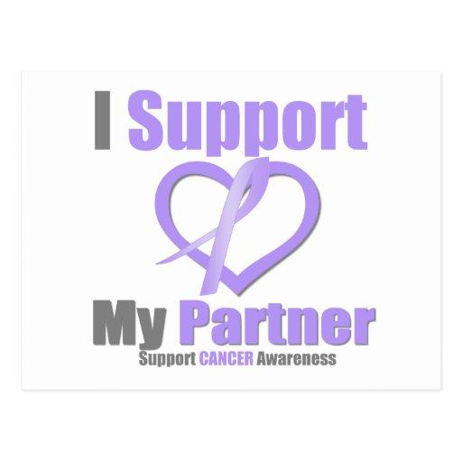 Cancer Awareness I Support My Partner Post Cards