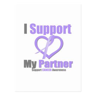 Cancer Awareness I Support My Partner Postcard