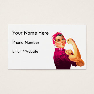 Cancer Awareness Rosie The Riveter Business Card