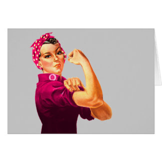 Cancer Awareness Rosie The Riveter Card