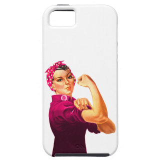 Cancer Awareness Rosie The Riveter Cover For iPhone 5/5S