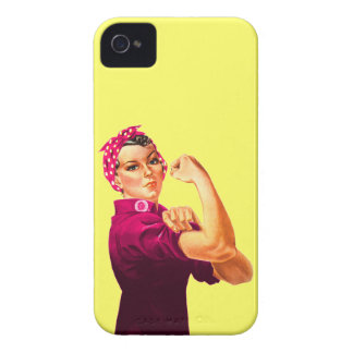 Cancer Awareness Rosie The Riveter iPhone 4 Covers