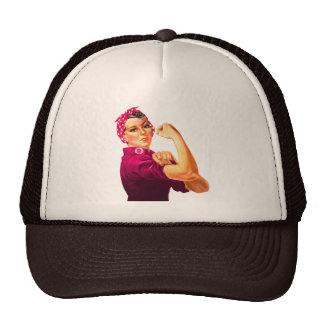 Cancer Awareness Rosie The Riveter Hat