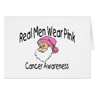 Cancer Awareness Santa Card