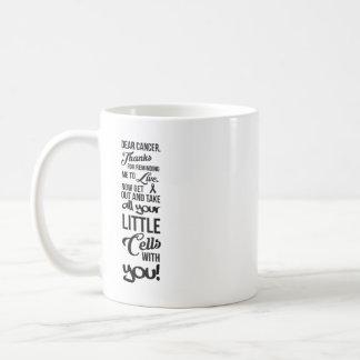 Cancer battle mug