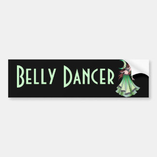 Cancer Belly Dancer Bumper Sticker