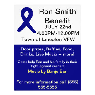Cancer benefit flyers