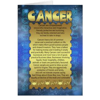 Cancer Birthday Card - Zodiac Birthday Card - Canc