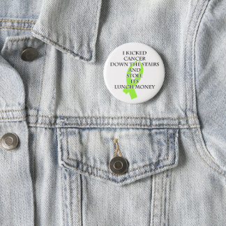 Cancer Bully (Lime Green Ribbon) 6 Cm Round Badge